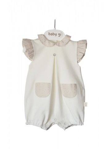 CREAM GOLDEN COTTON ROMPER