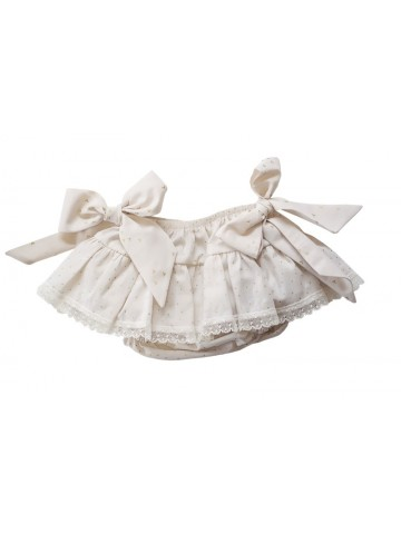 GOLDEN BLOOMERS W/ BOWS