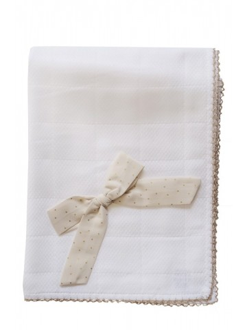 GOLDEN WHITE MUSLIN WITH BOW