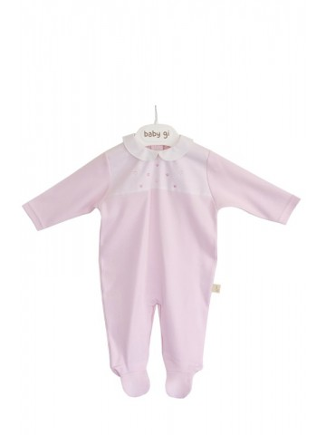 PINK HEARTS COTTON BABYGROW