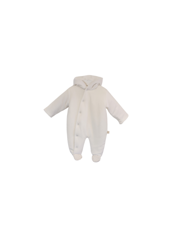 Beige cushioned snowsuit