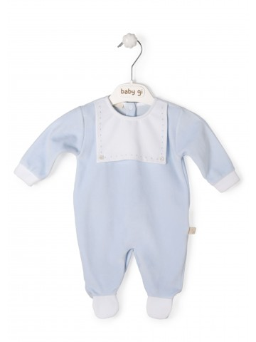 Blue Babygrow With Bib
