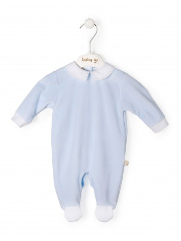 Blue Babygrow With Collar