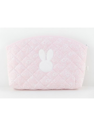 Pink Bunny Toilette Bag