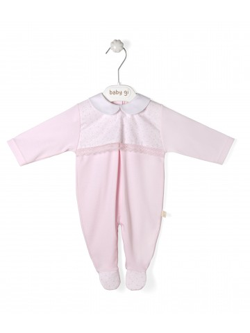 Pink Cotton Babygrow Lovely Pink