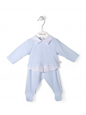 Blue Cotton Set Of Two