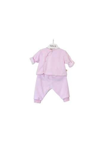 PINK VELOUR SET OF TWO