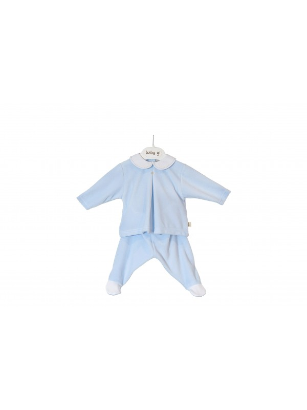 BLUE VELOUR SET OF TWO