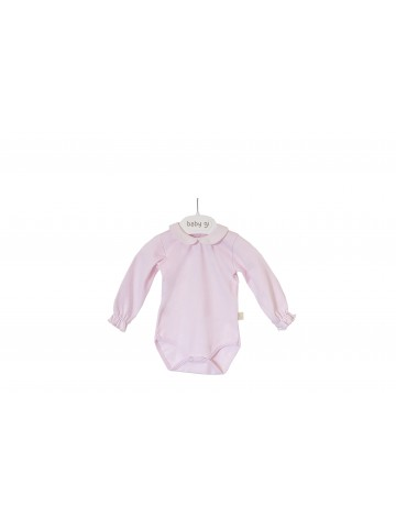 BODYVEST WITH PINK PIQUET COLLAR