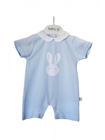 COTTON SLEEPY BUNNY ROMPER